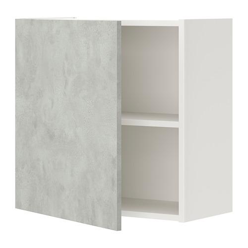 ENHET - 吊櫃連1塊層板/門, 白色/仿混凝土   IKEA 香港及澳門 - PE773231_S4