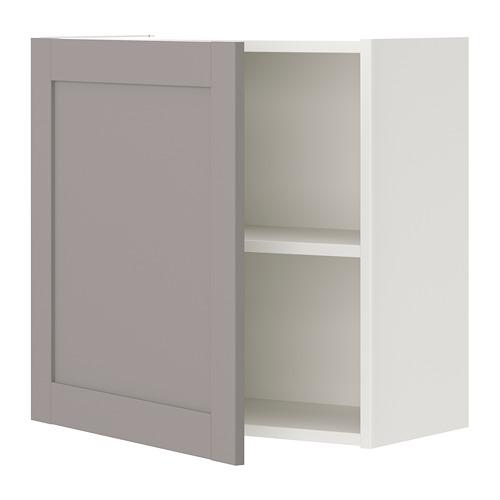 ENHET - 吊櫃連1塊層板/門, 白色/灰色 框架   IKEA 香港及澳門 - PE773247_S4