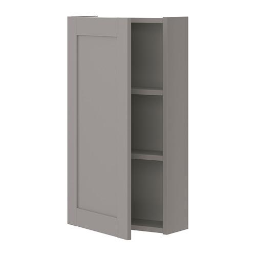 ENHET - 雙門吊櫃連2層板, 灰色/灰框   IKEA 香港及澳門 - PE773235_S4