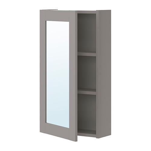 ENHET - 單門鏡櫃, 灰色/灰色 框架 | IKEA 香港及澳門 - PE773236_S4