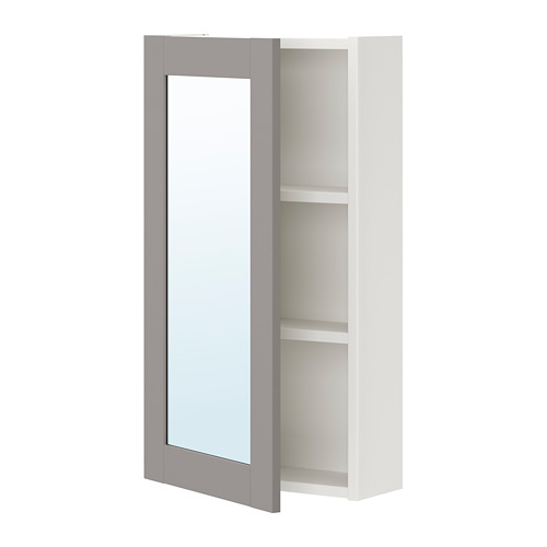ENHET - 單門鏡櫃, 白色/灰色 框架   IKEA 香港及澳門 - PE773280_S4