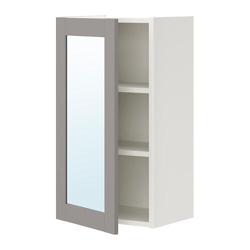 ENHET - 單門鏡櫃, 白色/灰色 框架   IKEA 香港及澳門 - PE773346_S4