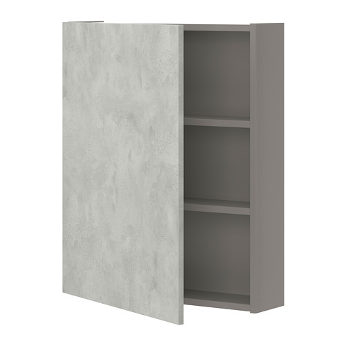 ENHET - 雙門吊櫃連2層板, 灰色/仿混凝土 | IKEA 香港及澳門 - PE773283_S4