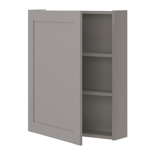 ENHET - wall cb w 2 shlvs/doors, grey/grey frame   IKEA Hong Kong and Macau - PE773284_S4