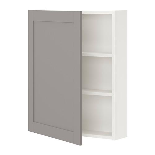ENHET - 雙門吊櫃連2層板, 白色/灰色 框架   IKEA 香港及澳門 - PE773299_S4