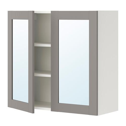 ENHET - 雙門鏡櫃, 白色/灰色 框架 | IKEA 香港及澳門 - PE773339_S4
