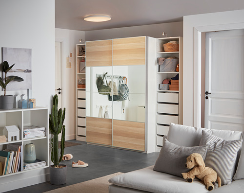 PAX - wardrobe, white/Mehamn Auli | IKEA Hong Kong and Macau - PH162775_S4