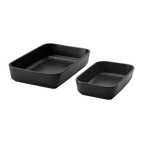 LYCKAD - oven/serving dish set of 2, dark grey   IKEA Hong Kong and Macau - PE785011_S4
