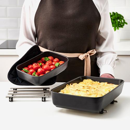 LYCKAD - oven/serving dish set of 2, dark grey   IKEA Hong Kong and Macau - PE785013_S4