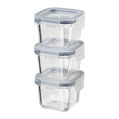 IKEA 365+ - 食物盒連蓋, 正方形/玻璃, 180 毫升 | IKEA 香港及澳門 - PE785017_S4