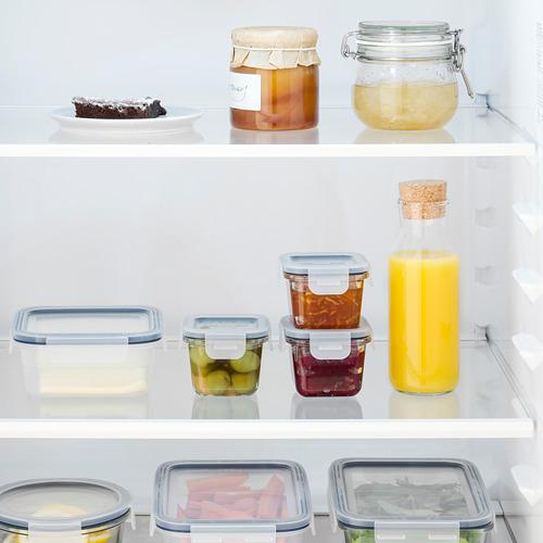 IKEA 365+ - 食物盒連蓋, 正方形/玻璃, 180 毫升 | IKEA 香港及澳門 - PE785019_S4