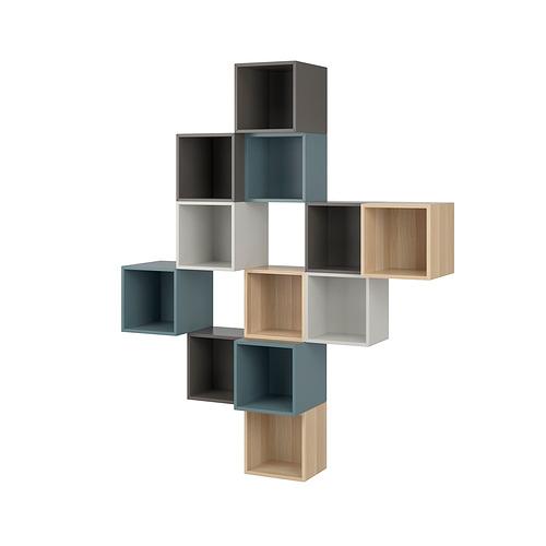 EKET - 上牆式貯物組合, multicolour 2 | IKEA 香港及澳門 - PE830242_S4