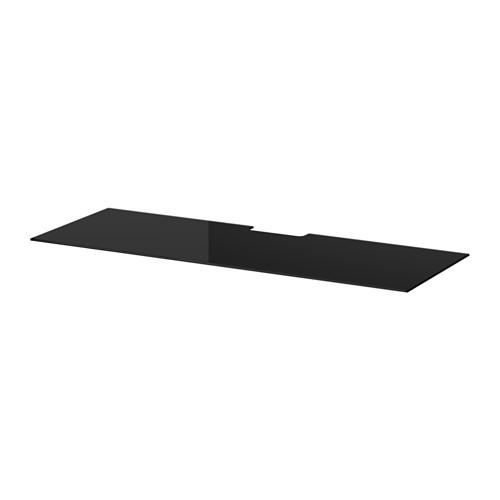 BESTÅ - top panel for TV, glass black | IKEA Hong Kong and Macau - PE513564_S4