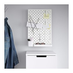SKÅDIS - 洞洞板套裝, 白色 | IKEA 香港及澳門 - PE640407_S3