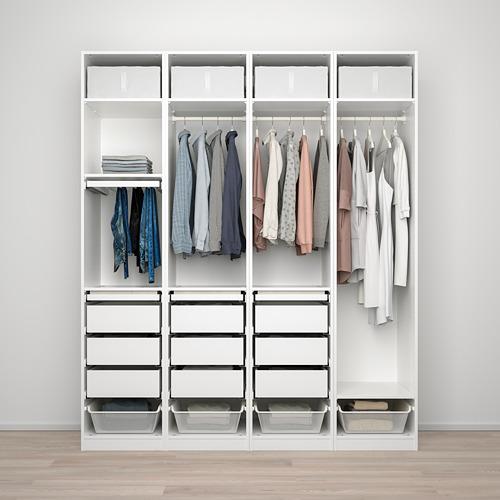 PAX/REINSVOLL/VIKEDAL - 衣櫃組合, 白色/灰米黃色 鏡面玻璃 | IKEA 香港及澳門 - PE773498_S4