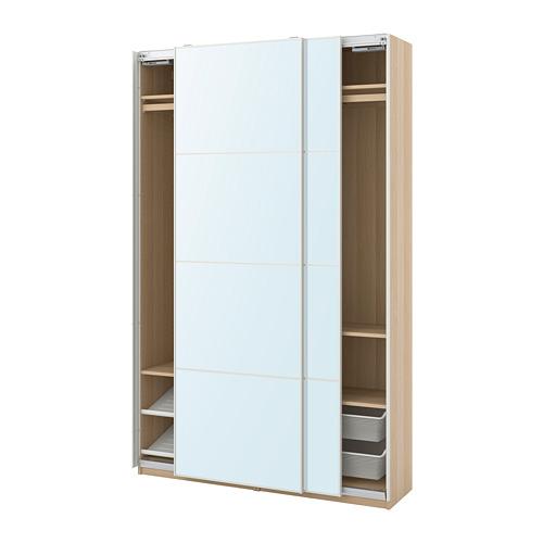 PAX/AULI - wardrobe combination, white stained oak effect/mirror glass | IKEA Hong Kong and Macau - PE773506_S4