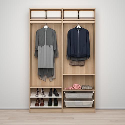 PAX/AULI - wardrobe combination, white stained oak effect/mirror glass | IKEA Hong Kong and Macau - PE773518_S4