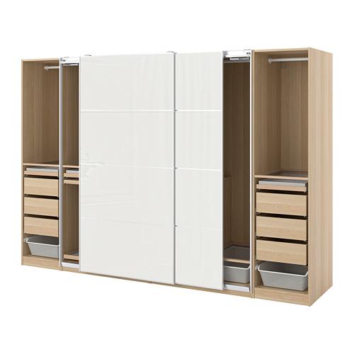 PAX/HOKKSUND - 衣櫃組合, 染白橡木紋/淺灰色光面 | IKEA 香港及澳門 - PE773504_S4