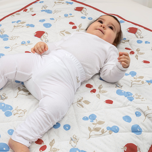 RÖDHAKE 嬰兒氈, 兔仔/藍莓/白色/紅色
