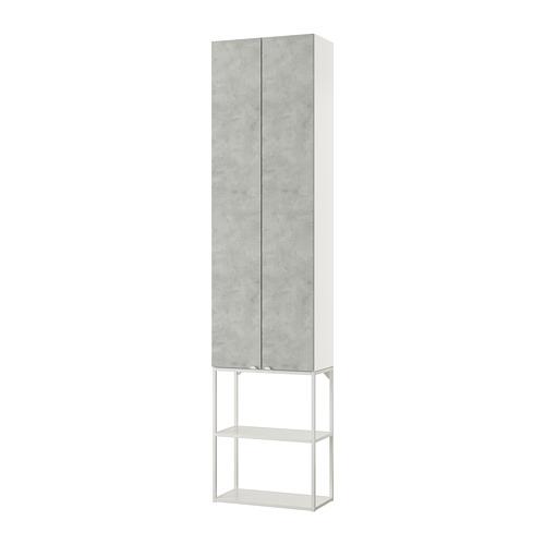 ENHET - 上牆式貯物架組合, white/concrete effect | IKEA 香港及澳門 - PE773615_S4