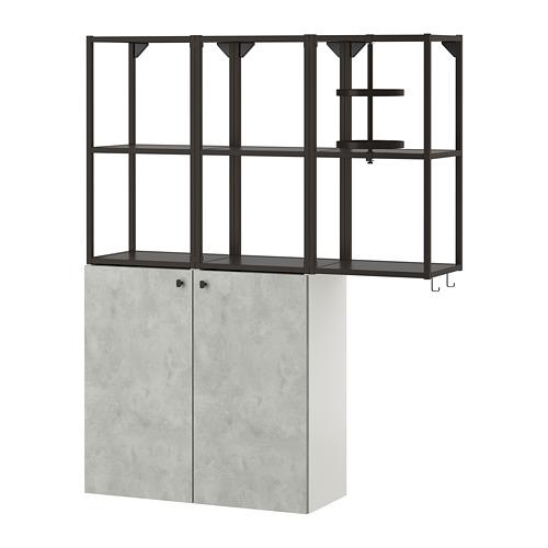 ENHET - 上牆式貯物架組合, anthracite/concrete effect | IKEA 香港及澳門 - PE773566_S4