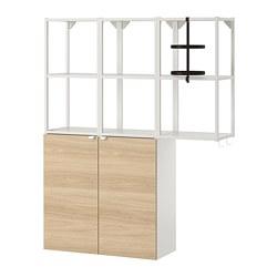 ENHET - wall storage combination, white/oak effect | IKEA Hong Kong and Macau - PE773620_S3