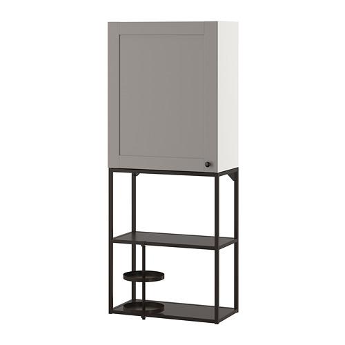 ENHET - 上牆式貯物架組合, anthracite/grey frame   IKEA 香港及澳門 - PE773644_S4