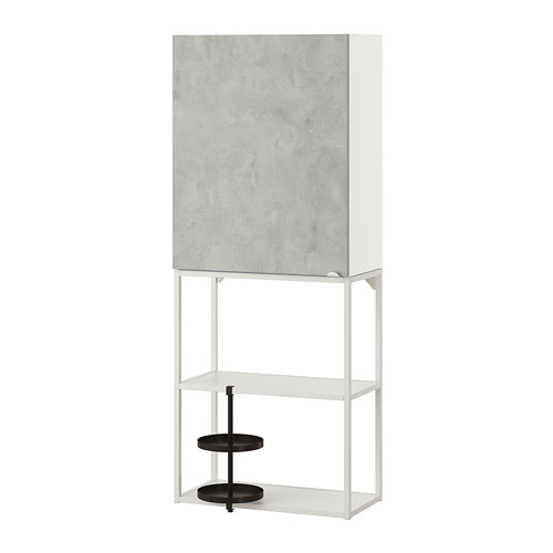 ENHET - 上牆式貯物架組合, white/concrete effect   IKEA 香港及澳門 - PE773647_S4