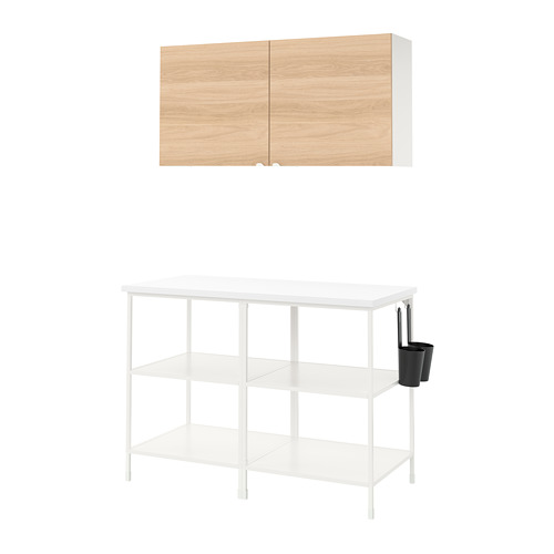 ENHET - 上牆式貯物架組合, white/oak effect   IKEA 香港及澳門 - PE773582_S4