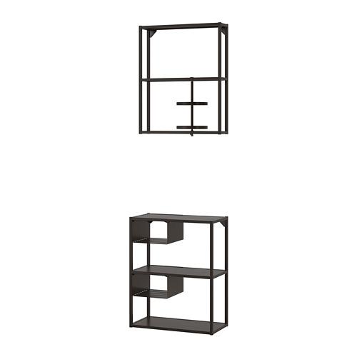 ENHET - 牆/地面貯物組合, 炭黑色   IKEA 香港及澳門 - PE773659_S4
