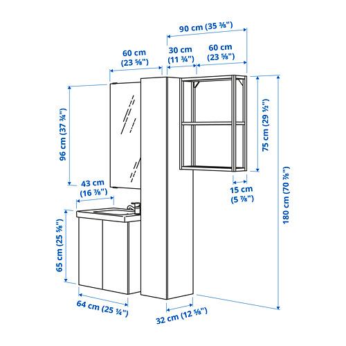 TVÄLLEN/ENHET - 浴室貯物組合 13件裝, 仿混凝土/白色 PILKÅN水龍頭 | IKEA 香港及澳門 - PE785310_S4