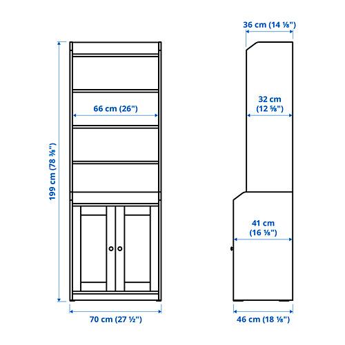 HAUGA - 雙門高櫃, 白色 | IKEA 香港及澳門 - PE785315_S4