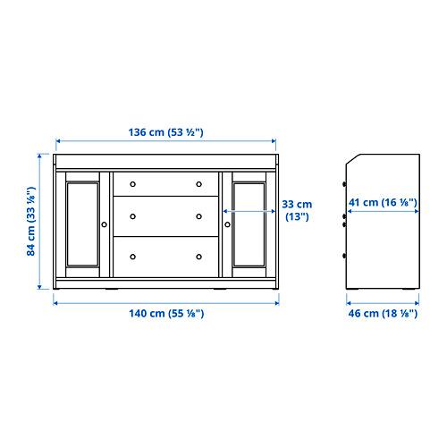 HAUGA - 餐具櫃, 白色   IKEA 香港及澳門 - PE785314_S4