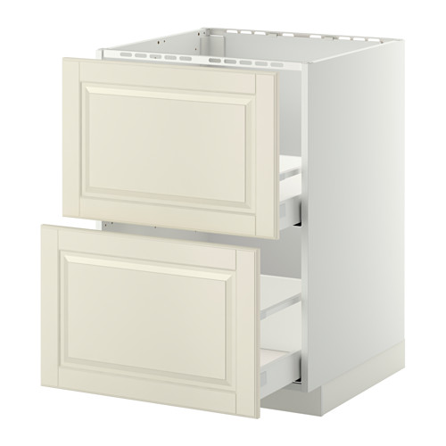 METOD/MAXIMERA - base cab f sink+2 fronts/2 drawers, white/Bodbyn off-white | IKEA Hong Kong and Macau - PE371157_S4