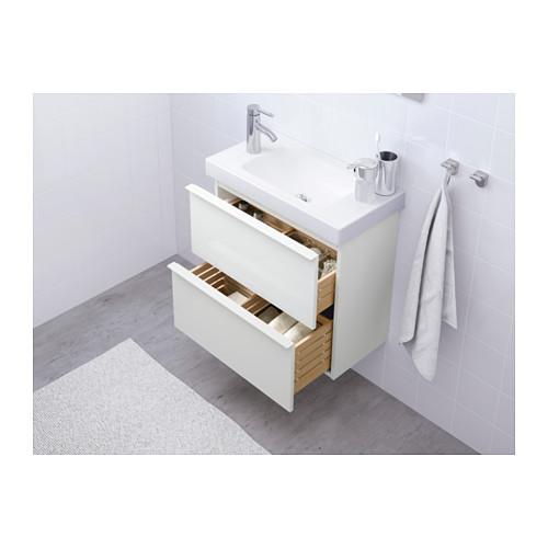 GODMORGON 雙抽屜洗手盆櫃