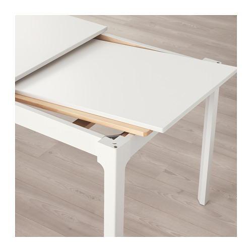 BERNHARD/EKEDALEN - table and 4 chairs, white/Mjuk golden-brown | IKEA Hong Kong and Macau - PE640526_S4