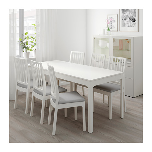 EKEDALEN/EKEDALEN - table and 4 chairs, white/Orrsta light grey | IKEA Hong Kong and Macau - PE640528_S4