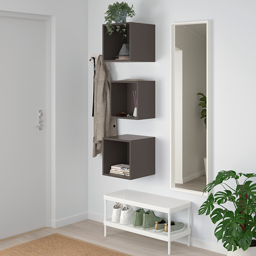 EKET - wall-mounted cabinet combination, dark grey | IKEA Hong Kong and Macau - PE731043_S4
