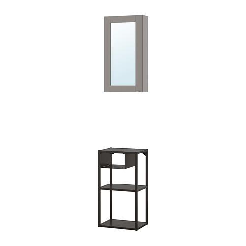 ENHET - wall storage comb w mirror door, anthracite/grey frame   IKEA 香港及澳門 - PE773604_S4