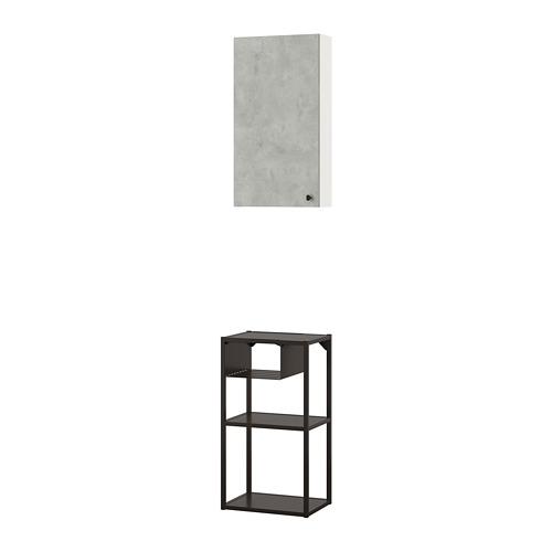 ENHET - 上牆式貯物架組合, anthracite/concrete effect   IKEA 香港及澳門 - PE773627_S4