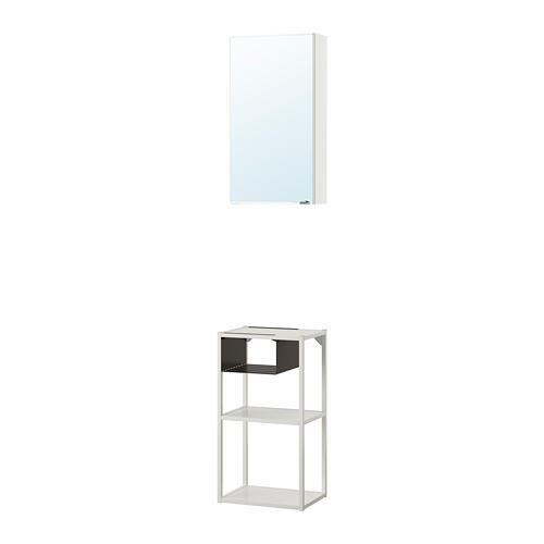 ENHET - wall storage comb w mirror door, white | IKEA 香港及澳門 - PE773660_S4