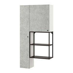 ENHET - storage combination for laundry, anthracite/concrete effect | IKEA 香港及澳門 - PE773632_S3