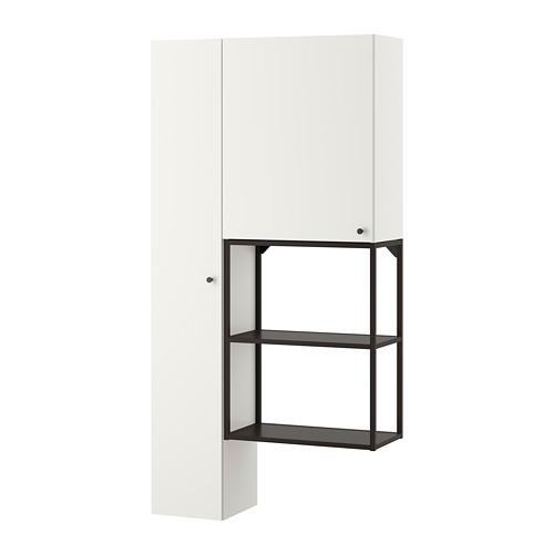 ENHET - storage combination for laundry, anthracite/white | IKEA 香港及澳門 - PE773634_S4