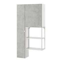 ENHET - storage combination for laundry, white/concrete effect | IKEA 香港及澳門 - PE773666_S3