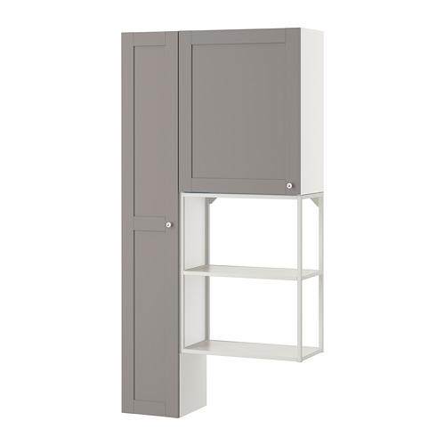 ENHET - storage combination for laundry, white/grey frame | IKEA 香港及澳門 - PE773636_S4