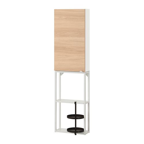 ENHET - 上牆式貯物架組合, white/oak effect   IKEA 香港及澳門 - PE773639_S4