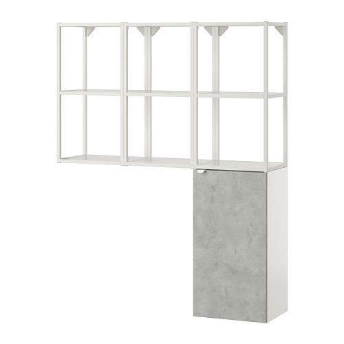 ENHET - storage combination for laundry, white/concrete effect | IKEA 香港及澳門 - PE773556_S4