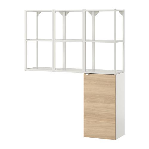 ENHET - storage combination for laundry, white/oak effect | IKEA 香港及澳門 - PE773558_S4