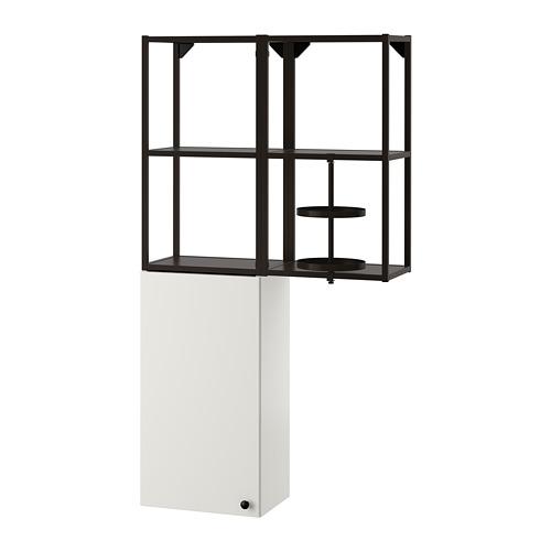 ENHET - 上牆式貯物架組合, anthracite/white | IKEA 香港及澳門 - PE773563_S4