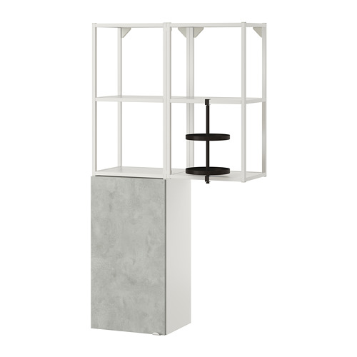 ENHET - 上牆式貯物架組合, white/concrete effect   IKEA 香港及澳門 - PE773589_S4